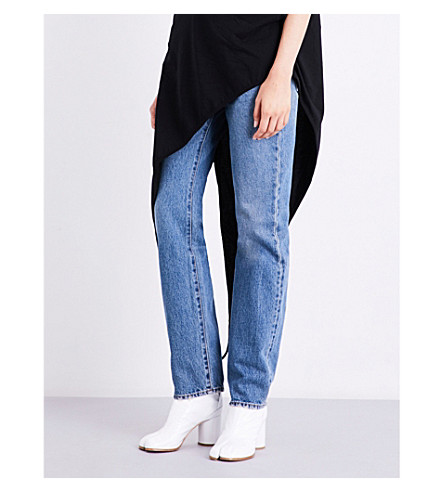 MM6 Boyfriend-fit mid-rise jeans (Indaco