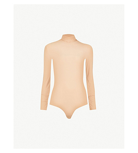MM6 MAISON MARGIELA Turtleneck stretch-jersey boody (Skin