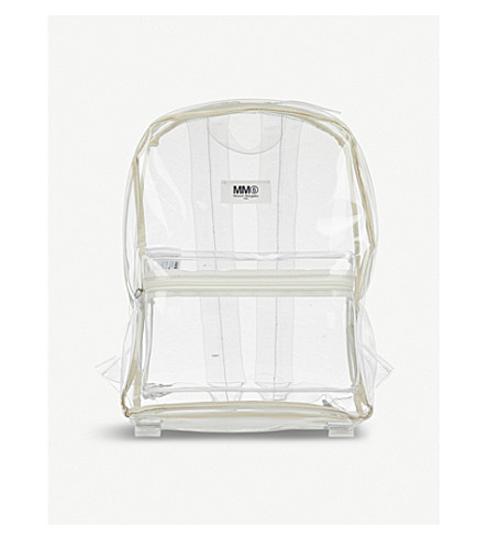 MM6 MAISON MARGIELA Clear PVC backpack (Transparent