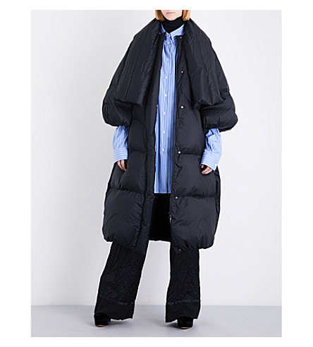 MAISON MARGIELA Oversized padded shell coat (Black