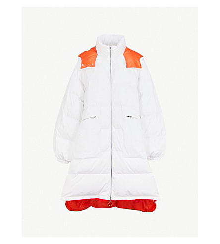 MAISON MARGIELA Contrast-lining padded shell and down-blend coat (White