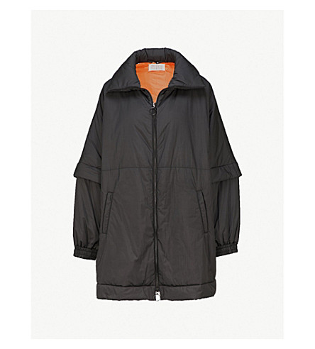 MAISON MARGIELA Zipped-sleeve padded shell coat (Black