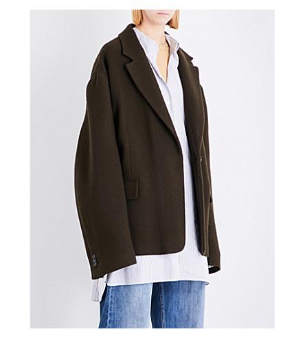 MAISON MARGIELA Oversized stretch-wool coat (Brown