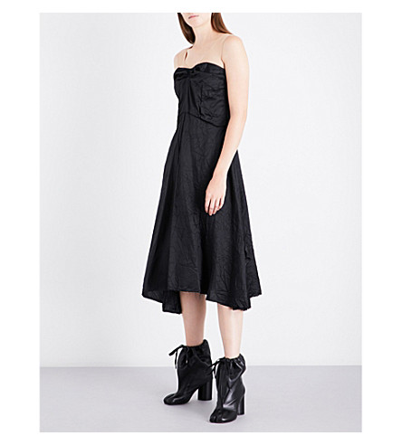 MAISON MARGIELA Contrast-panel sleeveless woven dress (Black