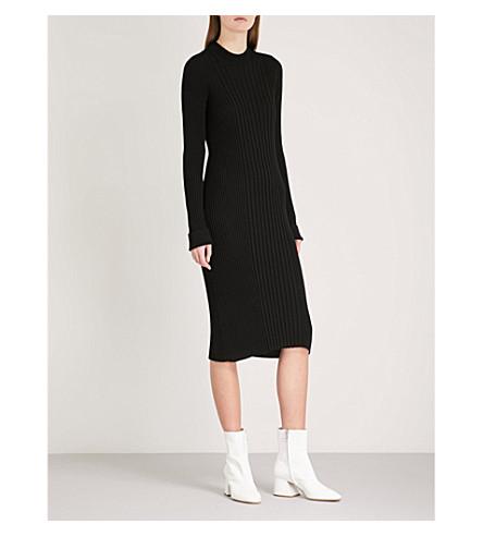 MAISON MARGIELA Reconduit ribbed wool dress (Black