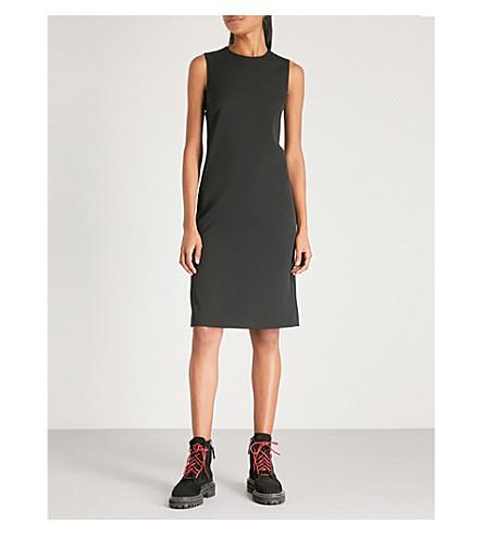 MAISON MARGIELA Cutout wool-crepe dress (Black