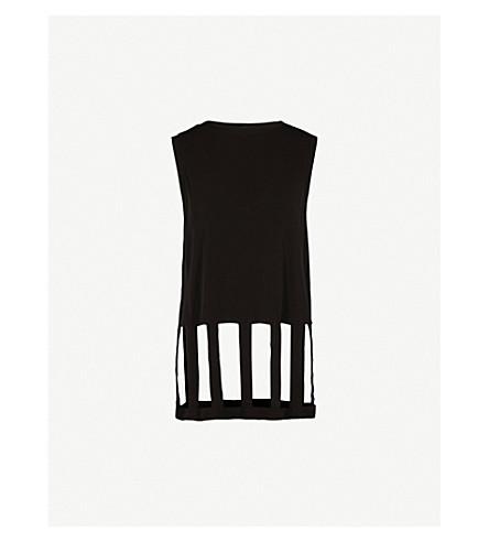 MAISON MARGIELA Cutout sleeveless jersey vest (Black