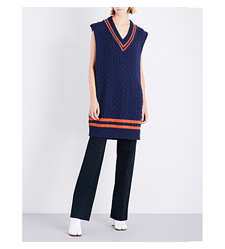 MAISON MARGIELA Cricket knitted jumper (Mixed+navy+blue