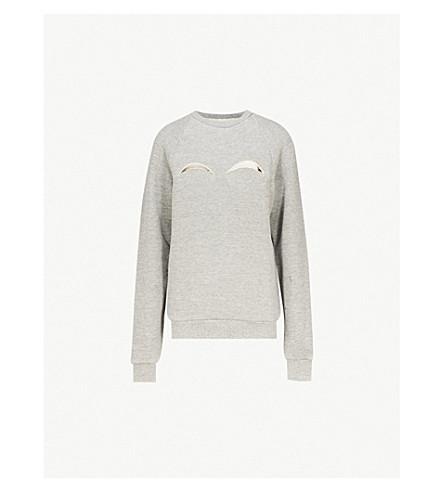 MAISON MARGIELA Cutout cotton-jersey sweatshirt (Melange grey