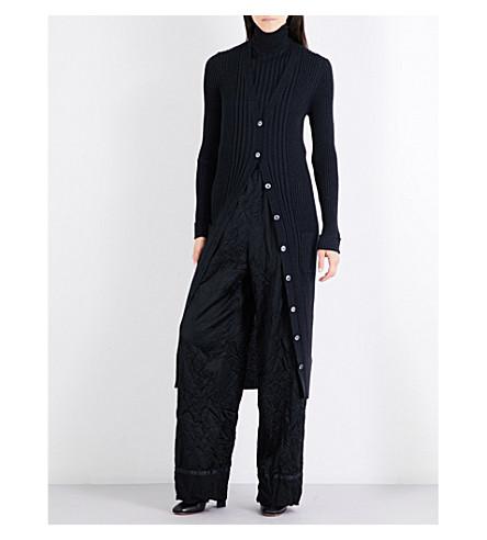 MAISON MARGIELA Ribbed knitted cardigan (Anthracite