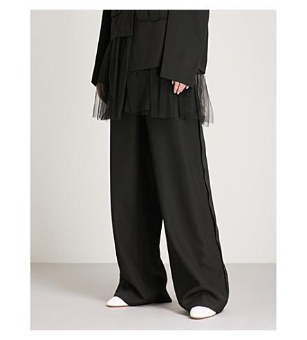 MAISON MARGIELA Wide-leg wool trousers (Black