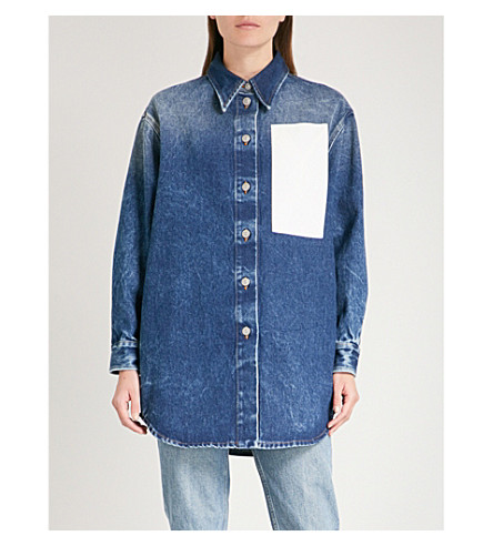MM6 MAISON MARGIELA Oversized denim shirt (Med+blue