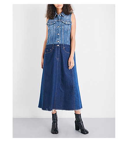 MM6 Oversized denim dress (3+cast