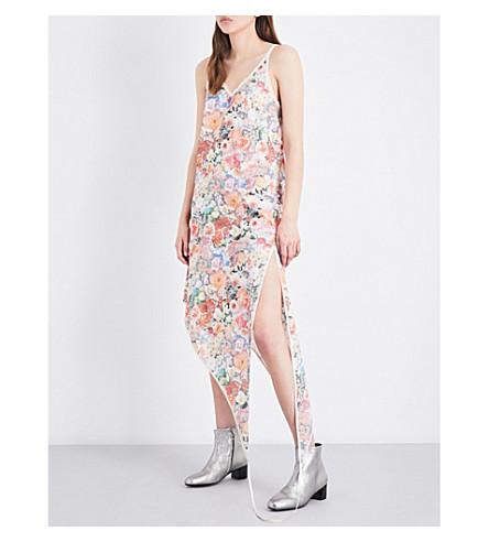 MM6 Floral-print cotton-muslin dress (Flower+print