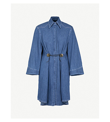 MM6 MAISON MARGIELA Denim shirt dress (Denim+blue