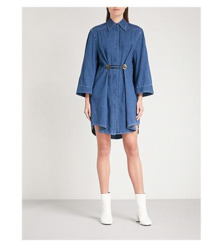 MM6 MAISON MARGIELA Denim shirt dress (Denim+blue