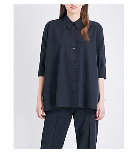 MM6 MAISON MARGIELA Oversized twill shirt (Black