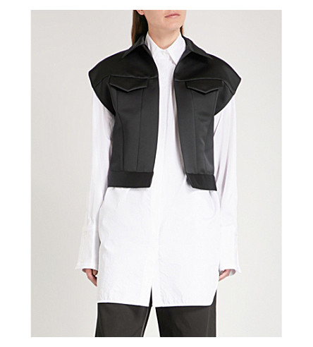 MM6 MAISON MARGIELA Duchess satin jacket (Black