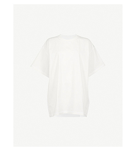 MM6 MAISON MARGIELA American Jersey cotton-jersey T-shirt (Off+white