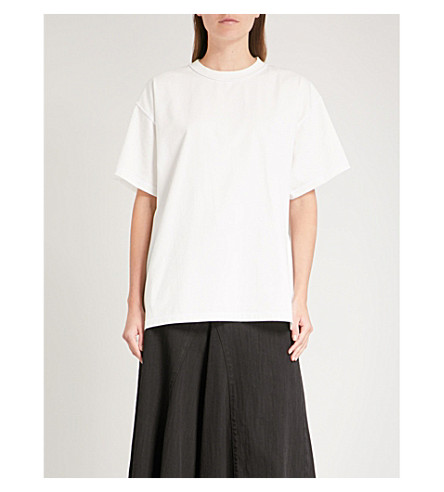 MM6 MAISON MARGIELA American Jersey cotton-jersey T-shirt (Off+white