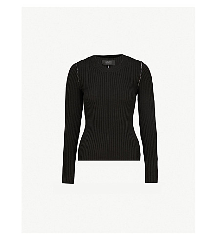 MM6 MAISON MARGIELA Layered knitted jumper (Black