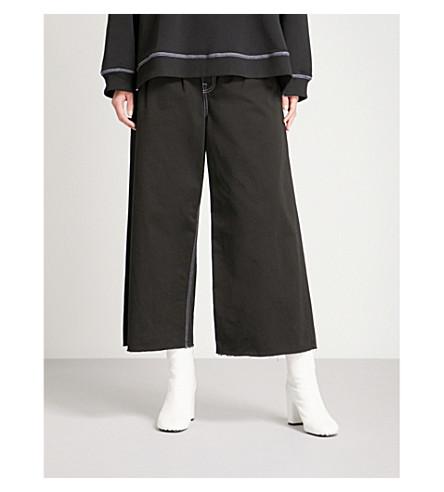 MM6 Regular-fit wide-leg high-rise jeans (Black
