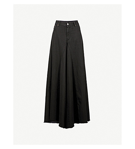 MM6 MAISON MARGIELA Regular-fit wide-leg high-rise jeans (Black