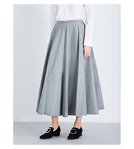 MM6 Faux-leather skirt (Grey
