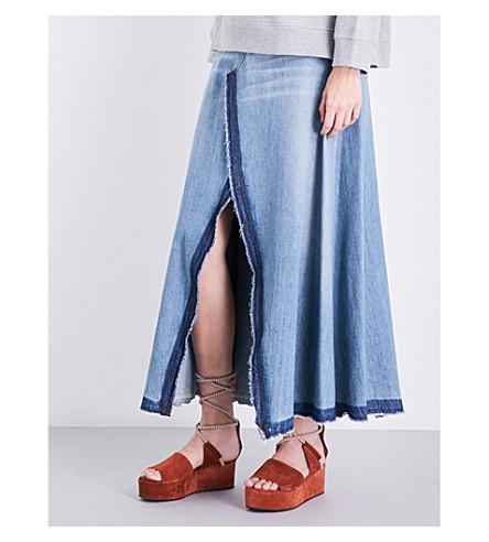MM6 Released-hem high-rise denim skirt (Vinatge was