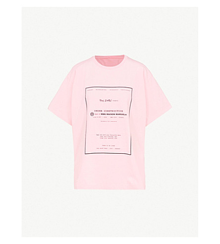MM6 MAISON MARGIELA Text-print cotton T-shirt (Pink