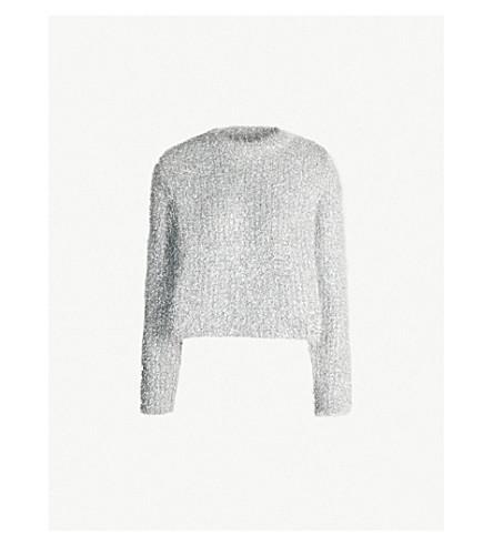 MM6 MAISON MARGIELA Crewneck tinsel sweater (Silver