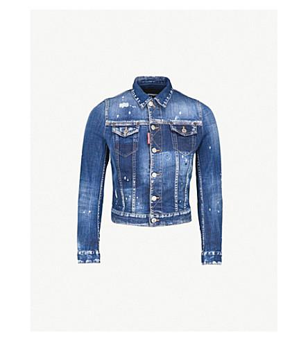 DSQUARED2 Distressed denim jacket (Blue