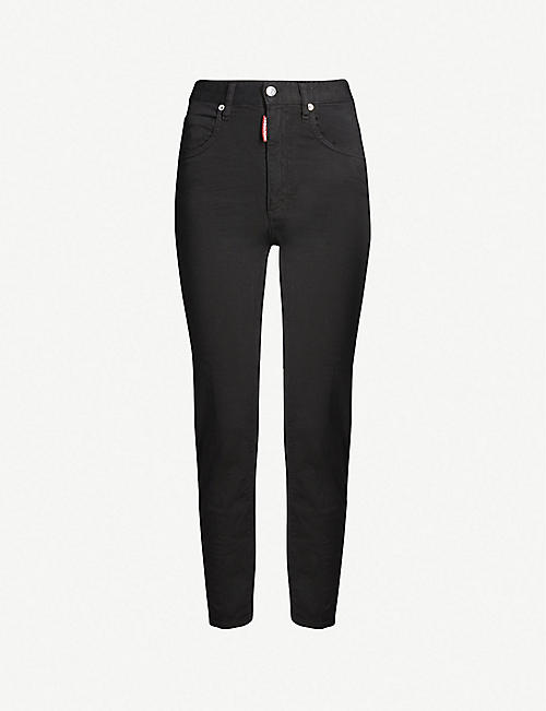 DSQUARED2 High-rise cotton-jersey track pants 06ffb9e195b