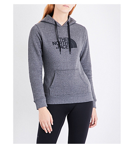 NORTH FACE Drew Peak cotton-jersey hoody (Med+grey+vin+wht+sign