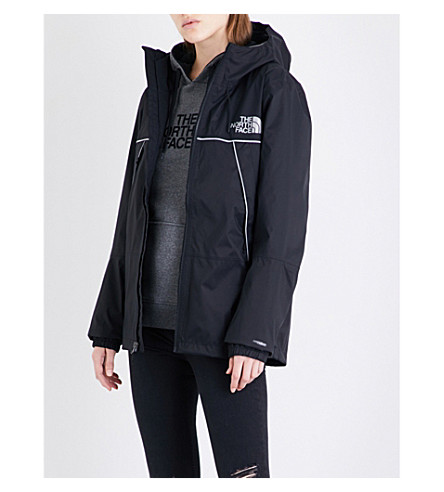 NORTH FACE 1990 Mountain Q shell jacket (Black+sliver+reflective