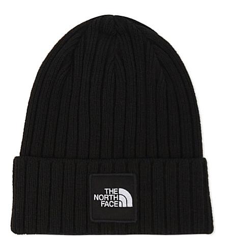 NORTH FACE Ribbed logo beanie (Black