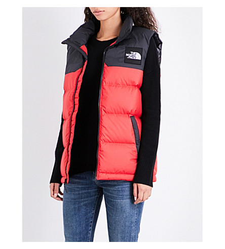 NORTH FACE 1992 Nuptse shell puffer gilet (Red