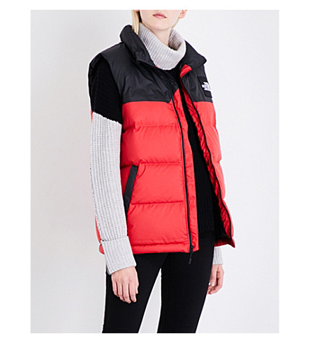 NORTH FACE 1992 Nuptse shell padded gilet (Red