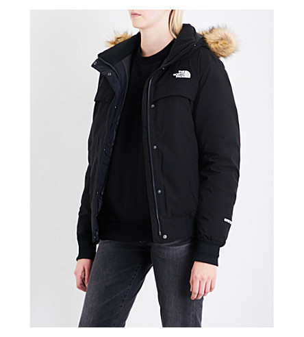 NORTH FACE Faux-fur-trimmed shell-down jacket (Black