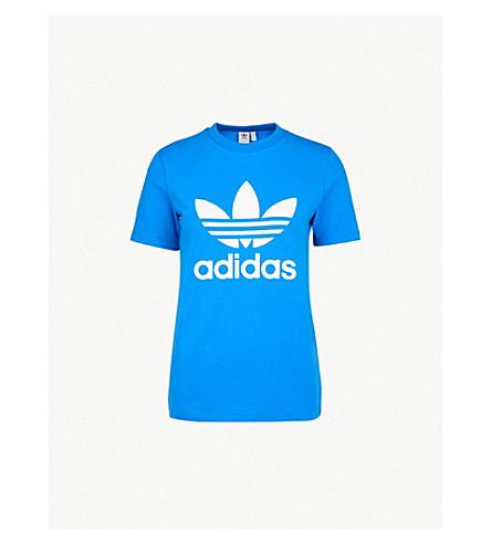 ADIDAS ORIGINALS Trefoil stretch-jersey T-shirt (Bluebird