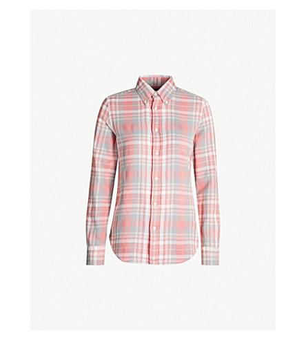 POLO RALPH LAUREN Checked cotton shirt (Red