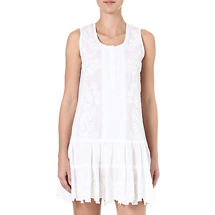 JULIET DUNN Cotton beach dress (White/white