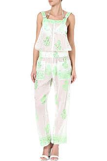 JULIET DUNN Embellished printed jumpsuit