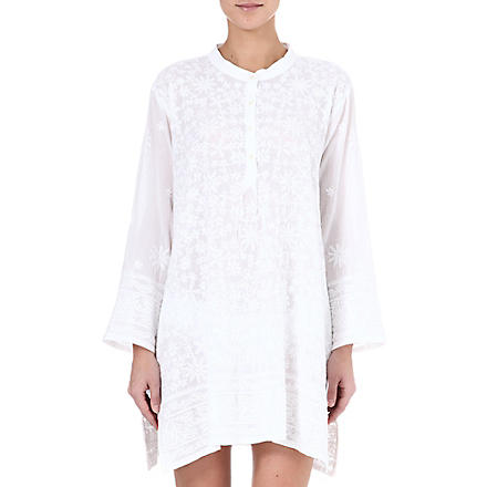 JULIET DUNN Embroidered overshirt (White