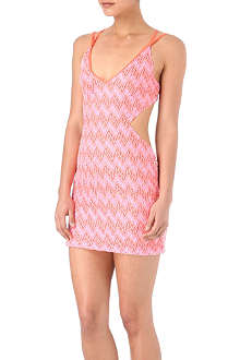 MISSONI Diagonale cut-out beach dress
