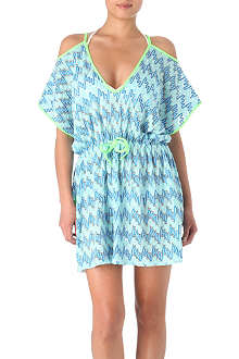 MISSONI Diagonale bi-colour beach dress