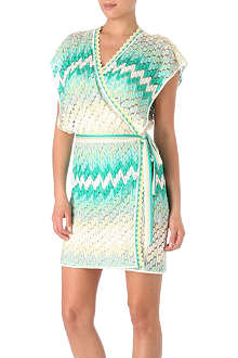 MISSONI Diagonale degradé wrap dress