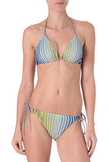MISSONI Feather triangle bikini