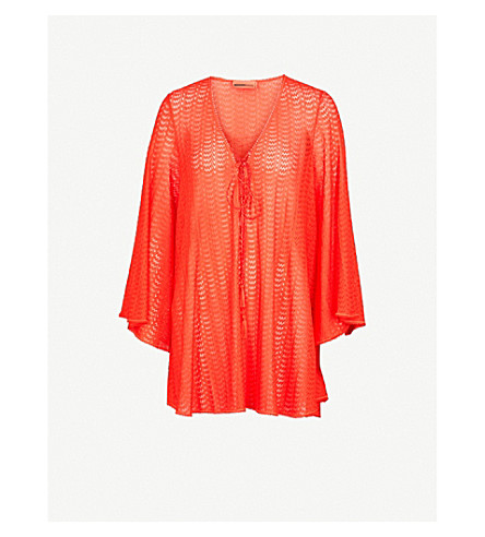 MISSONI Flared woven dress (Red