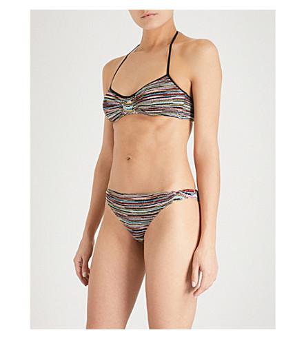 MISSONI Striped metallic bikini (Multi